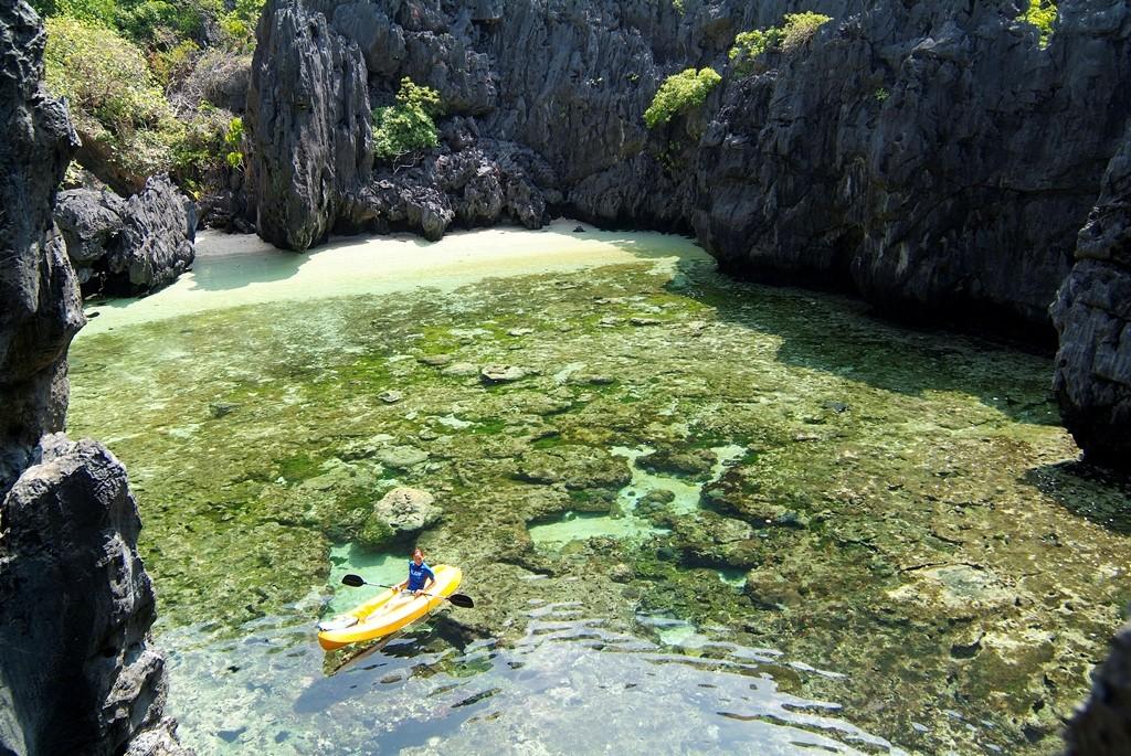 Kayaking at Hidden Beach
