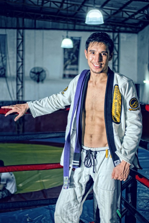Brazilian Jiu Jitsu fighter Ali Kathibi. Photo by Daniel Soriano