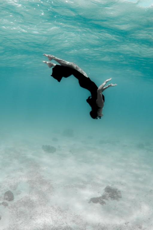 Lakambini LaRoque playing in the waters of Diniwid Beach