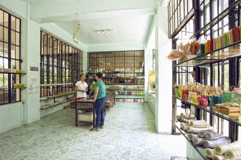 Ilog Maria's open air shop where honeybee products and by-products are sold