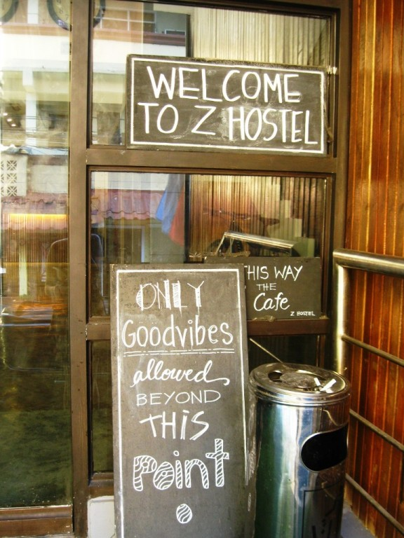 Z Hostel's entrance. Photo by Amanda Lago