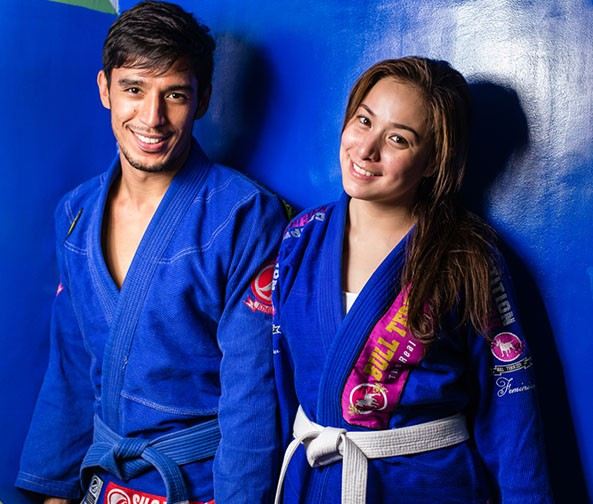 Kathibi with his fiance, actress Cristine Reyes