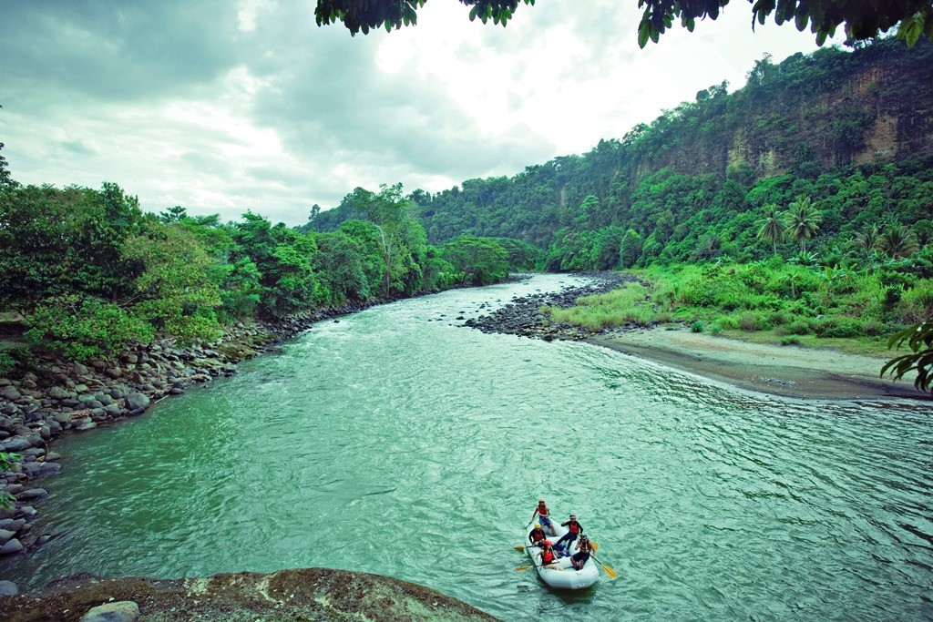 Tamugan river is the starting point of Davao's three-hour rafting adventure. Photo by Juan Caguicla