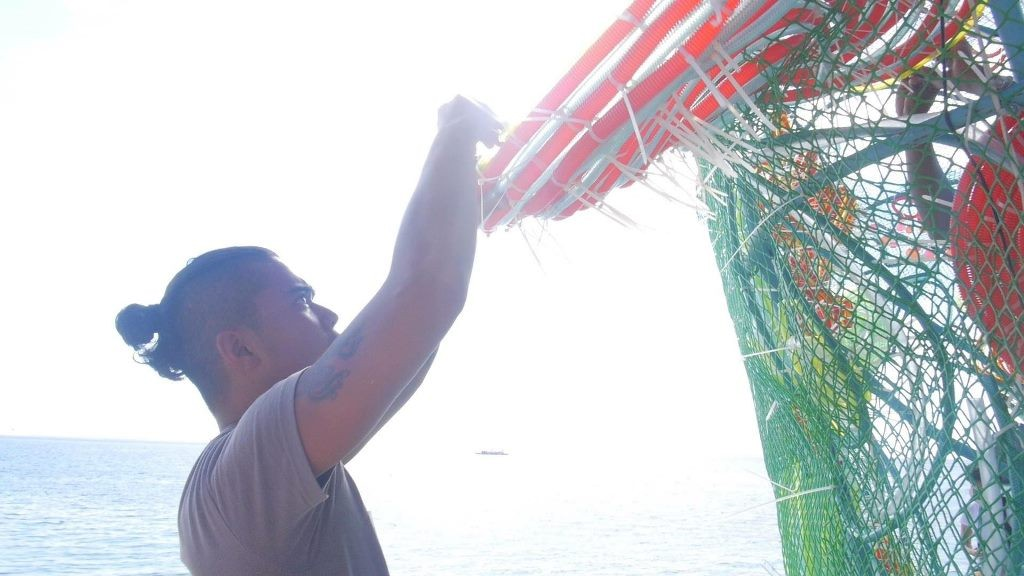 Working on the stage at the APEC Summit in Boracay. Photo by Brandon Relucio