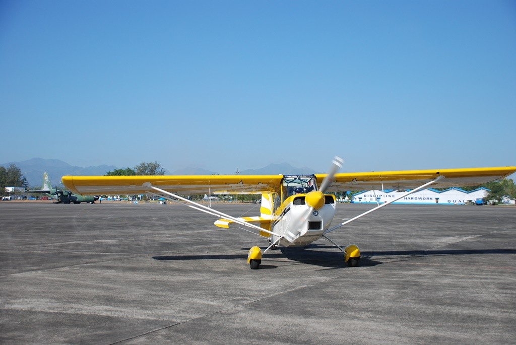 The plane pre-flight. Photo courtesy of Airworks