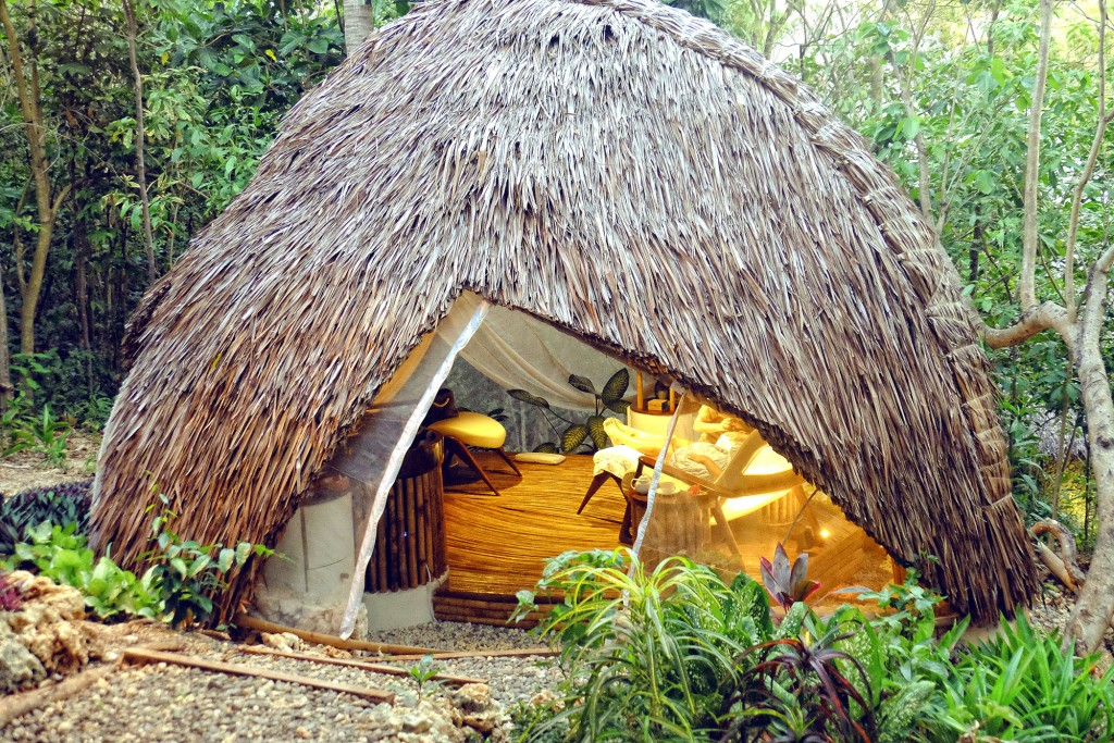 The dome-shaped native hut that is The Cocoon