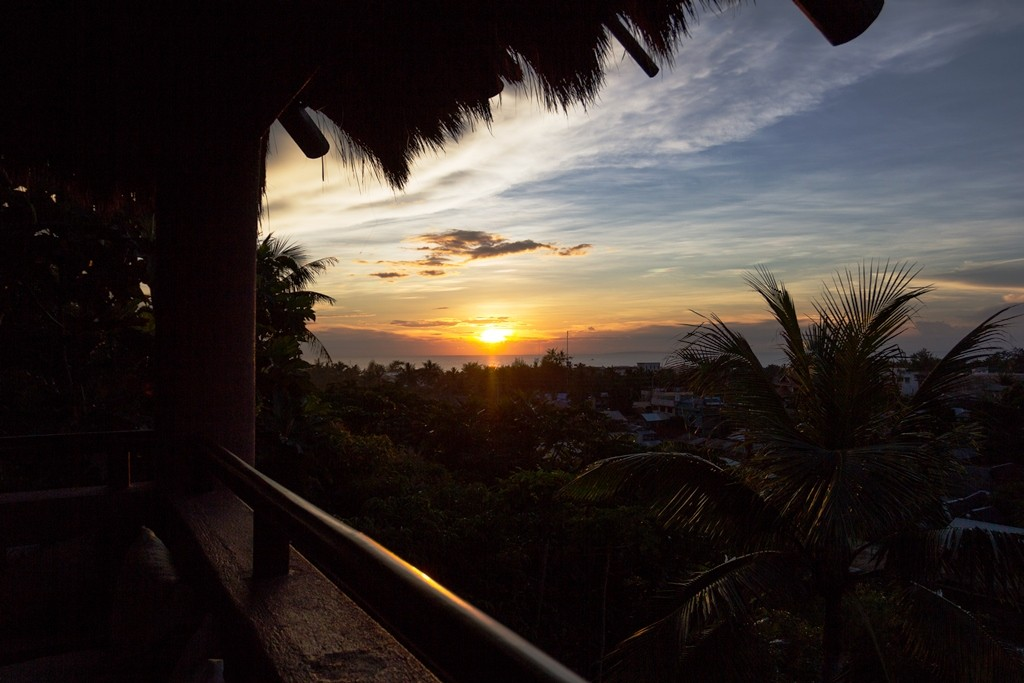 The famous Boracay sunset, as seen from Fernandez's home