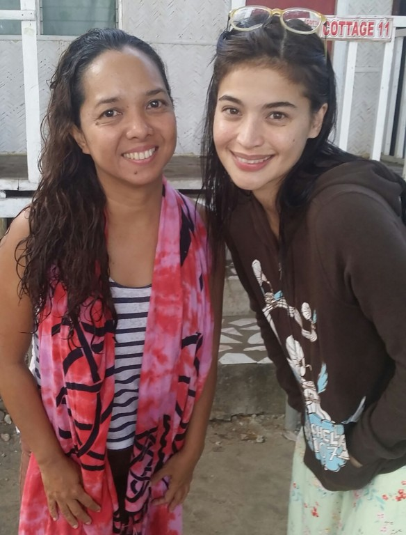 Mermaid Arabelle with actor Anne Curtis who played Dyesebel