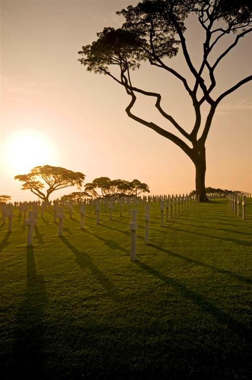 Sunset at the American Cemetery. Photo by Oggie Ramos