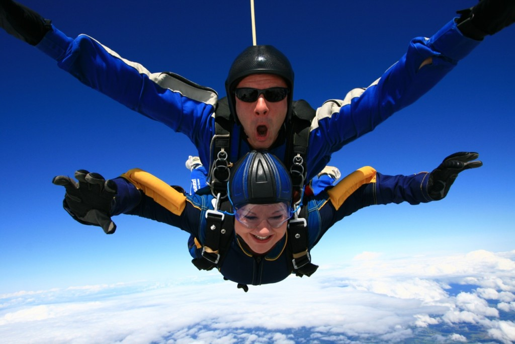Release your inner James Bond and jump off an aircraft in a tandem skydive