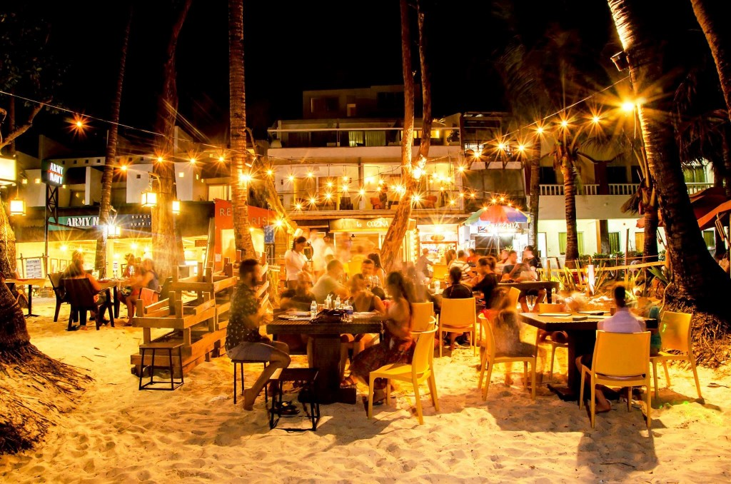 La Cozina, one of Boracay Island's beachfront resto-bars, perfect for sunset cocktails