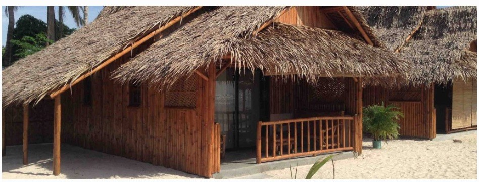 Screengrab from Amihan Beach resort's website—a typical bamboo and thatched roof beach cabana