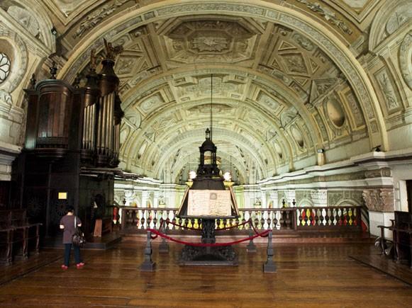 Interior of San Agustin Church. by Ferdz Decena