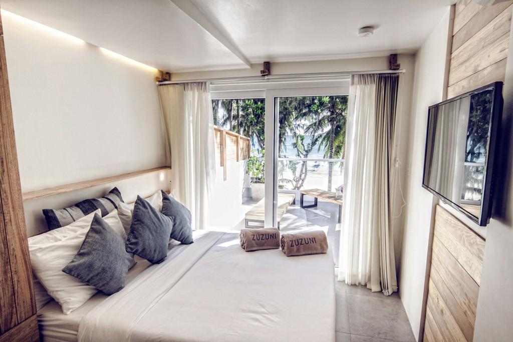 Zuzuni Boutique Hotel's beachfront room with balcony