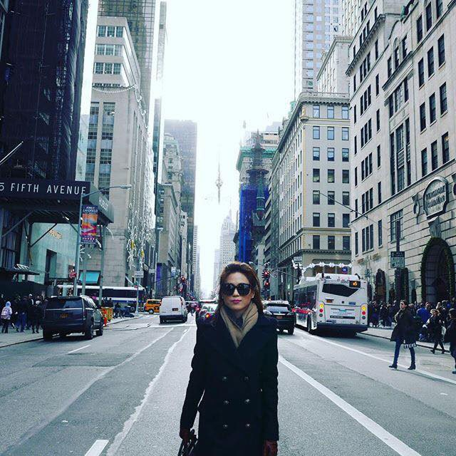 Up and about in New York. Screengrab from ToniGonzagaOnline Facebook