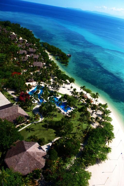 Aerial view of Dos Palmas Arreceffi Island Resort
