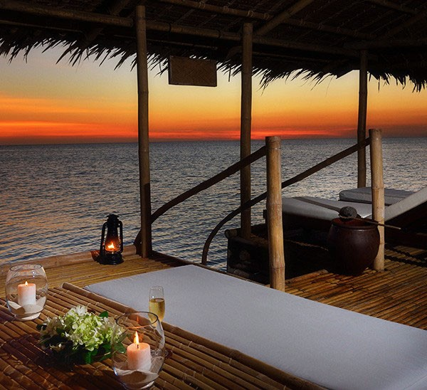 Breathtaking sunset, also from Amanpulo resort