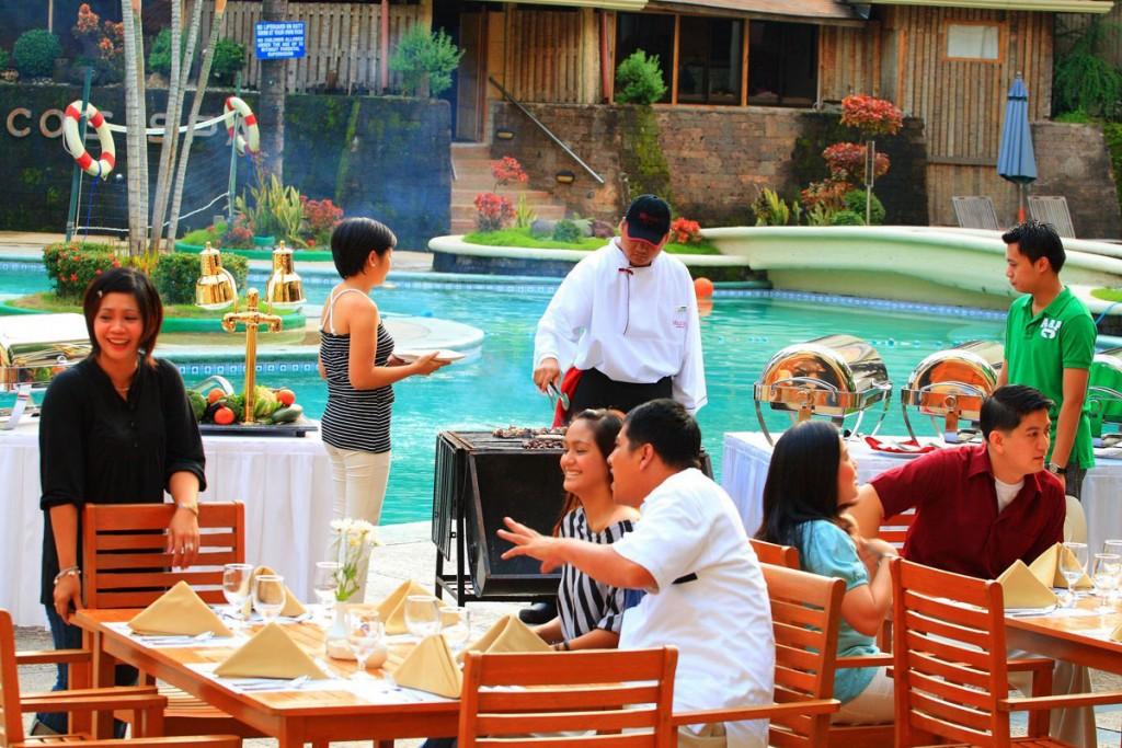 Poolside at Holiday Inn