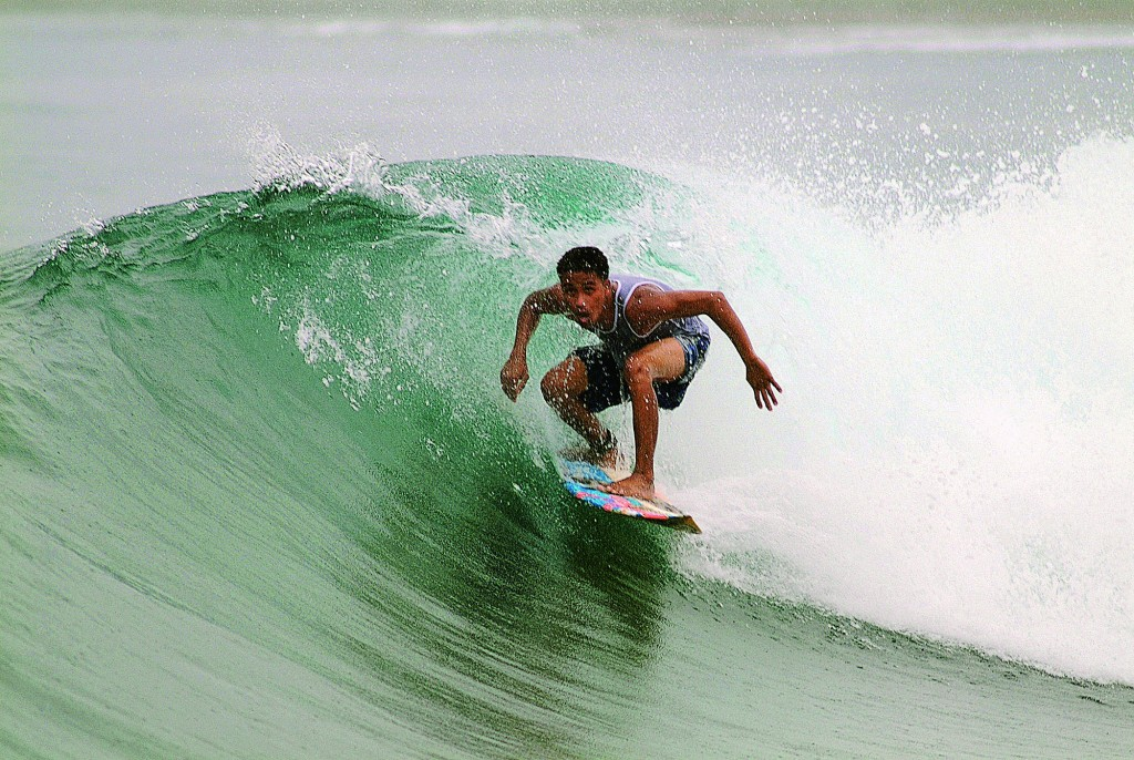 A local surfer of Baler in action. By George Tapan