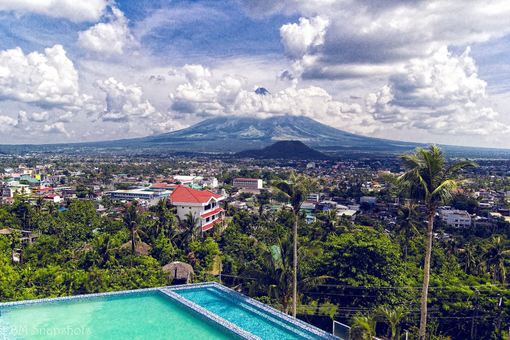 View of Mt. Mayon from Oriental Legazpi's pool area by Bicolano Man