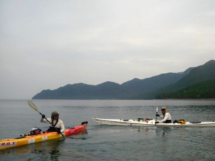Quiet kayaking during the expedition. Screengrab from Buzzy Budlong Facebook page