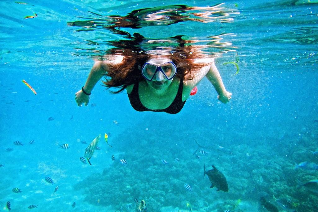 Swimming in Juag Lagoon marine sanctuary off Matnog. By Christian Sangoyo