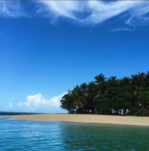 Guyam Island screen grab from @stephgrabriel on Instagram
