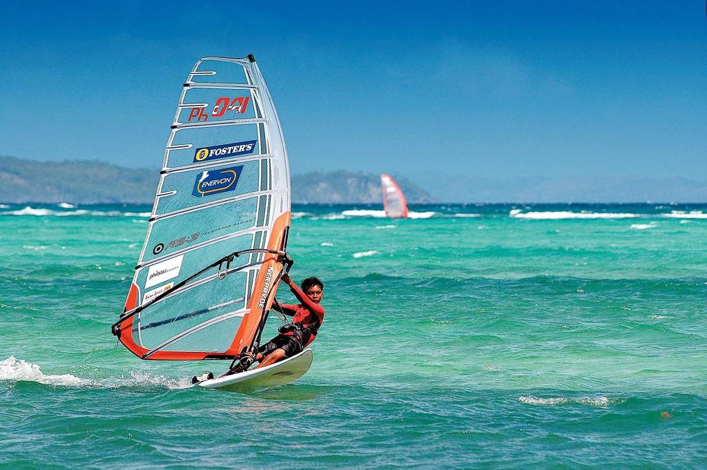Windsurfing in Boracay by David Cheung