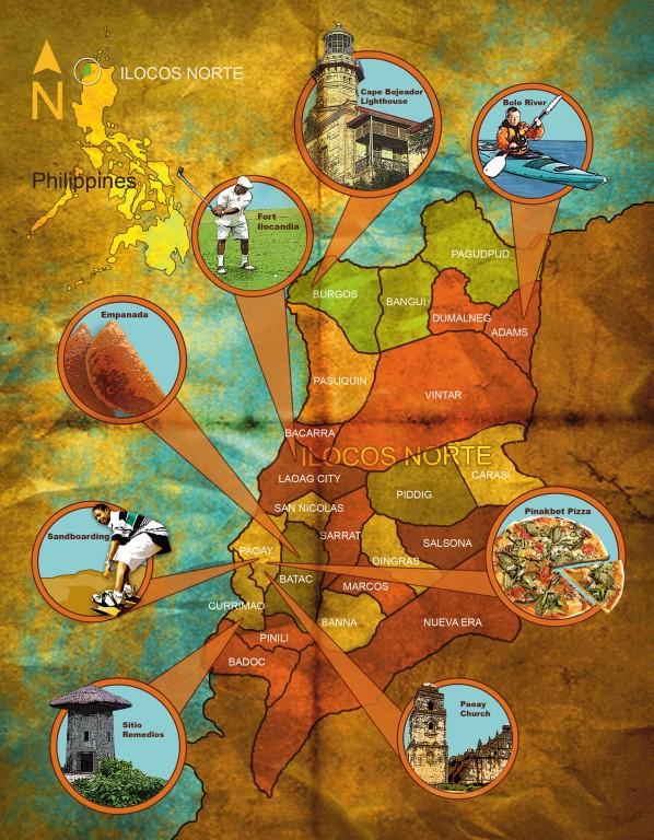 Ilocos Norte map by Marlon See.