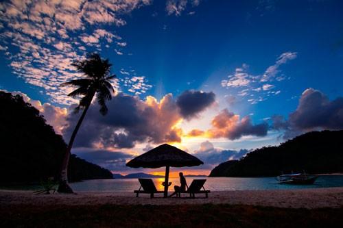 Sunset at Secret Paradise Resort by Mon Corpuz. Pinched from secretparadiseresort.com