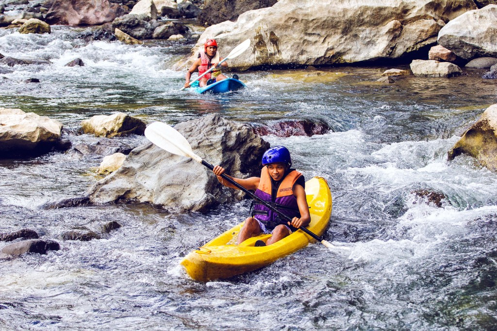 White water kayaking in Tibiao River By Estan Cabigas