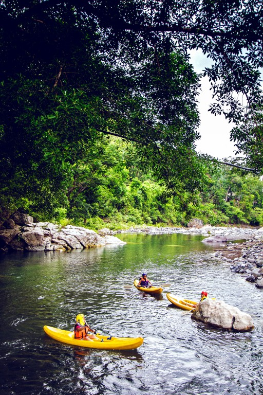 Kayaking across Tibiao River By Estan Cabigas