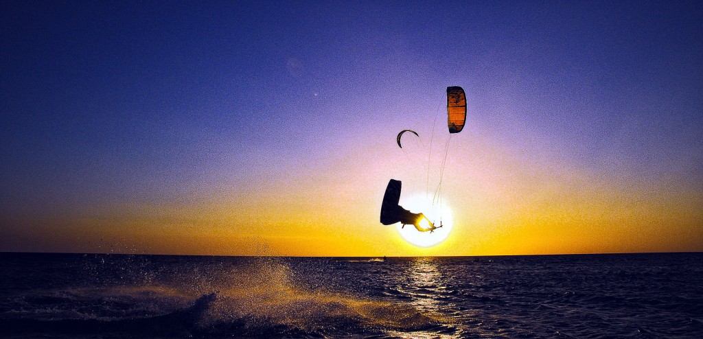 Kiteboarding, one of the activities in the resort