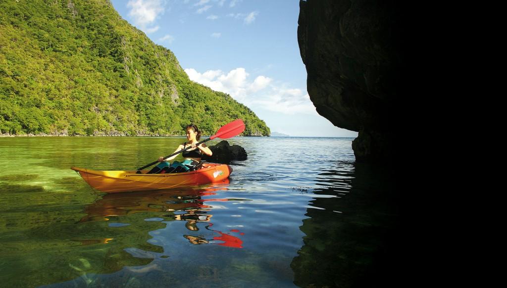 Kayaking in Coron