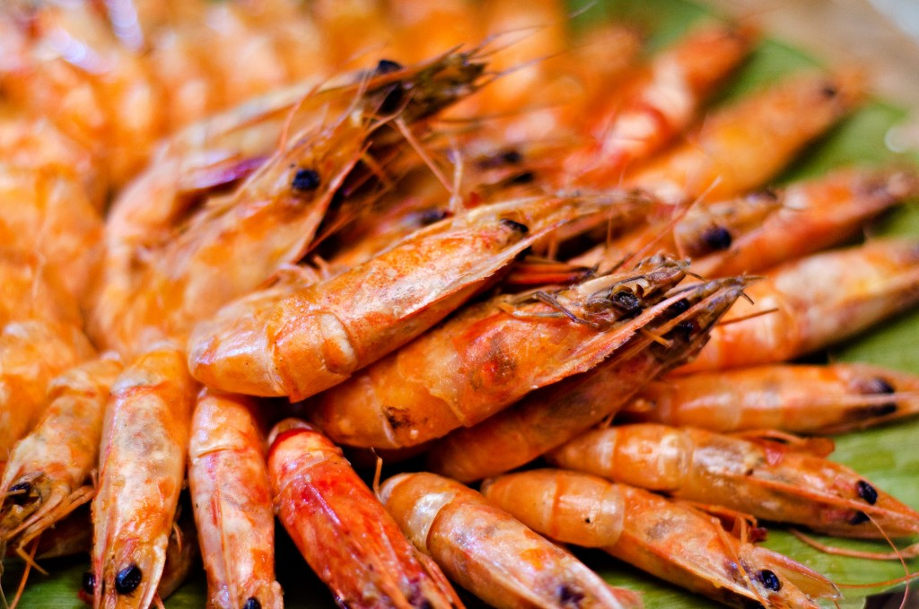 We feast on seafood like shrimps caught from the river. By Christian Sangoyo