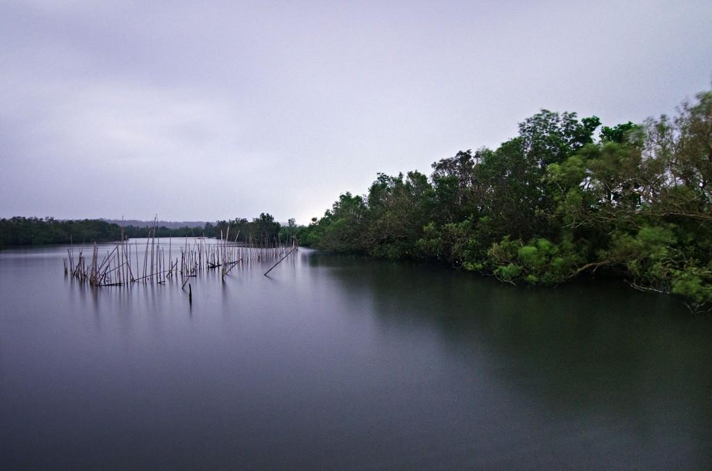 Buhatan River's placid waters.