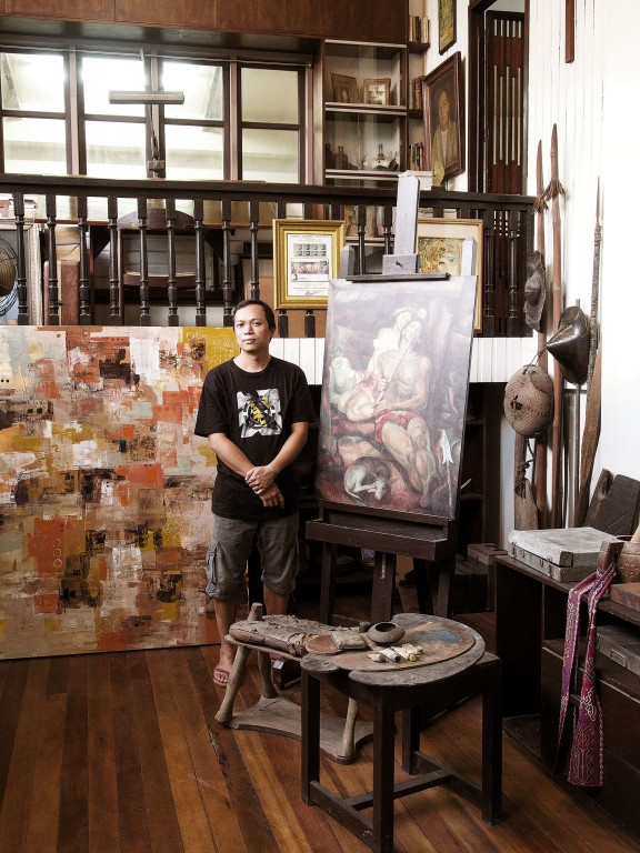 Botong Francisco's grandson, Carlos Francisco II, at the national artist's house