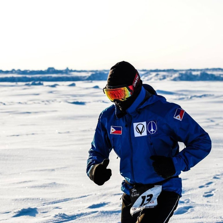 Victor Consunji at the North Pole Marathon