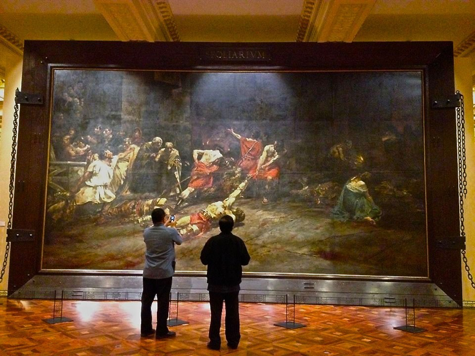 Juan Luna's Spoliarium pinched from The National Museum of the Philippines' Facebook page