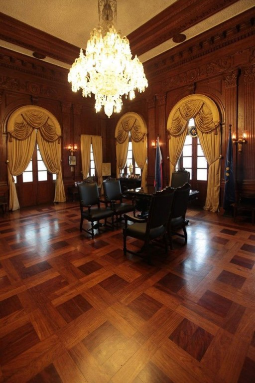 President Manuel L. Quezon's office at the old Malacanang Palace pinched from the Facebook page of Malacanang Palace