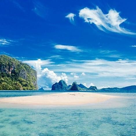 Sandbar pinched from El Nido Resorts' Facebook page