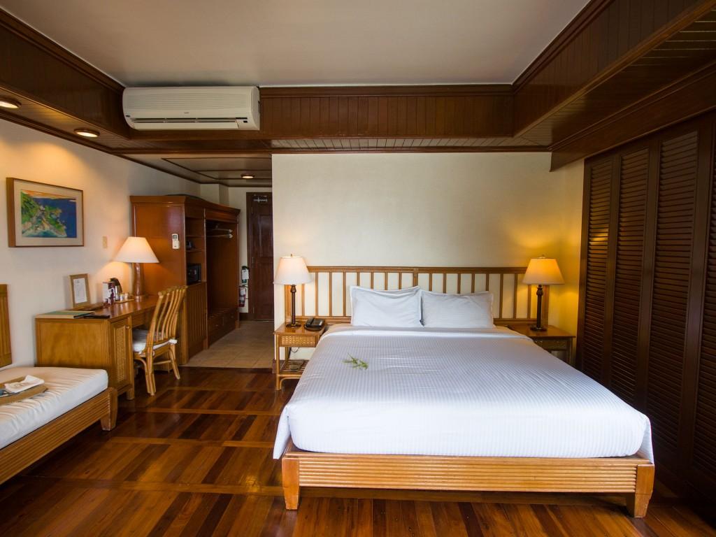 Water Cottage interior at Lagen Island Resort