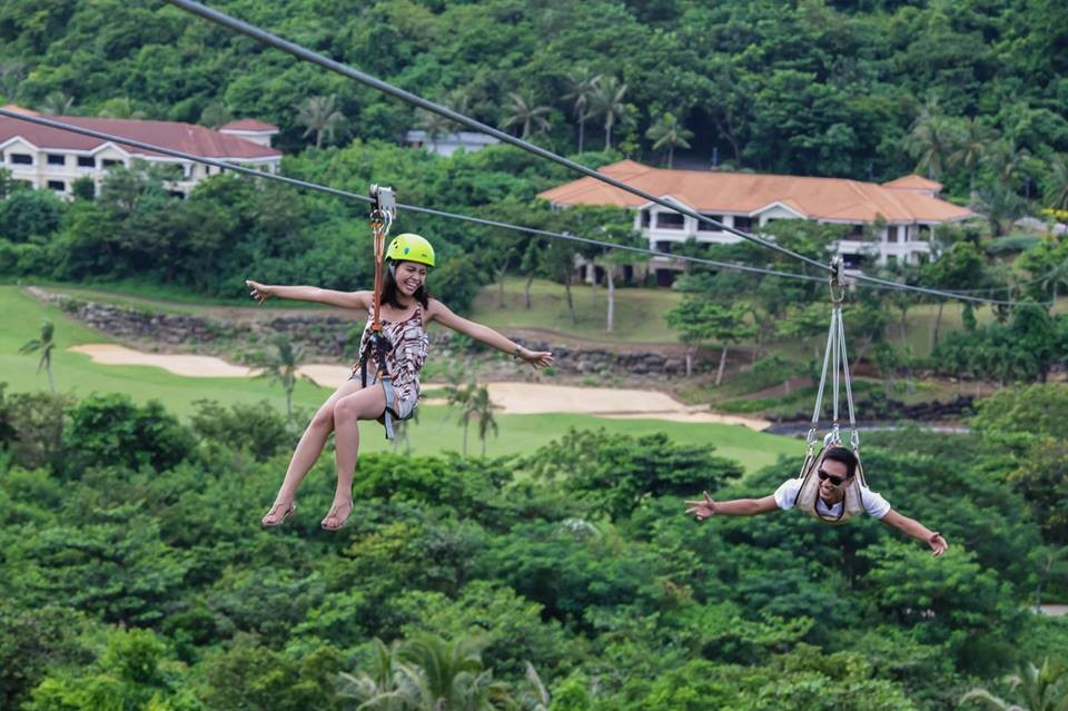 Zipline at Faiways and Bluewater Newcoast Boracay pinched from the Facebook page of Fairways and Bluewater Newcoast Boracay
