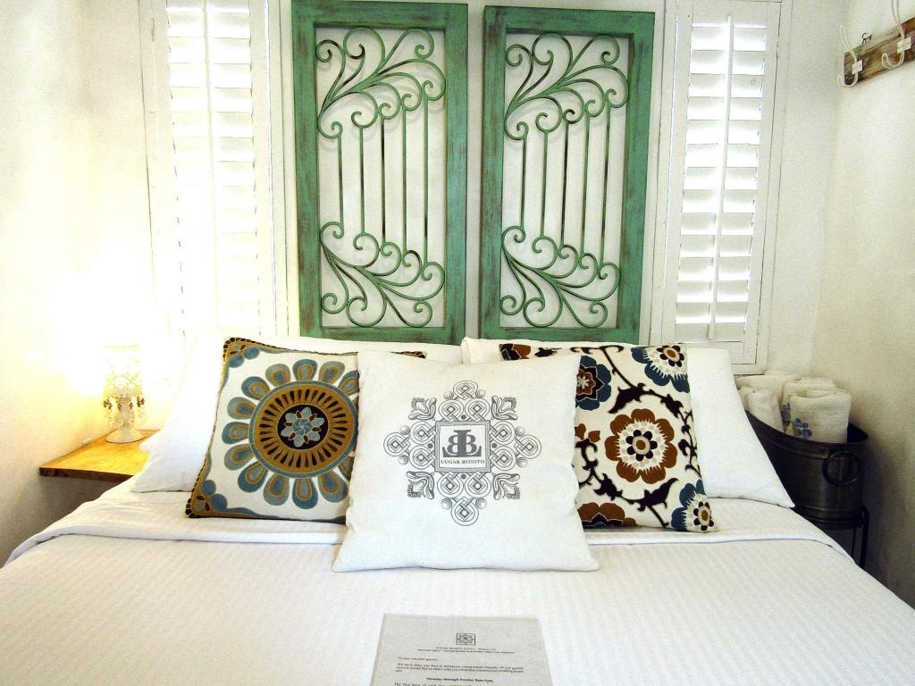 The Myron guestroom. Myron means sweet in Greek