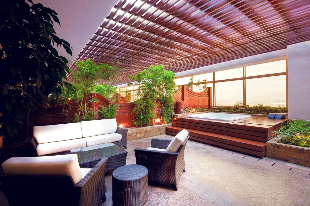 Signature suite's private patio