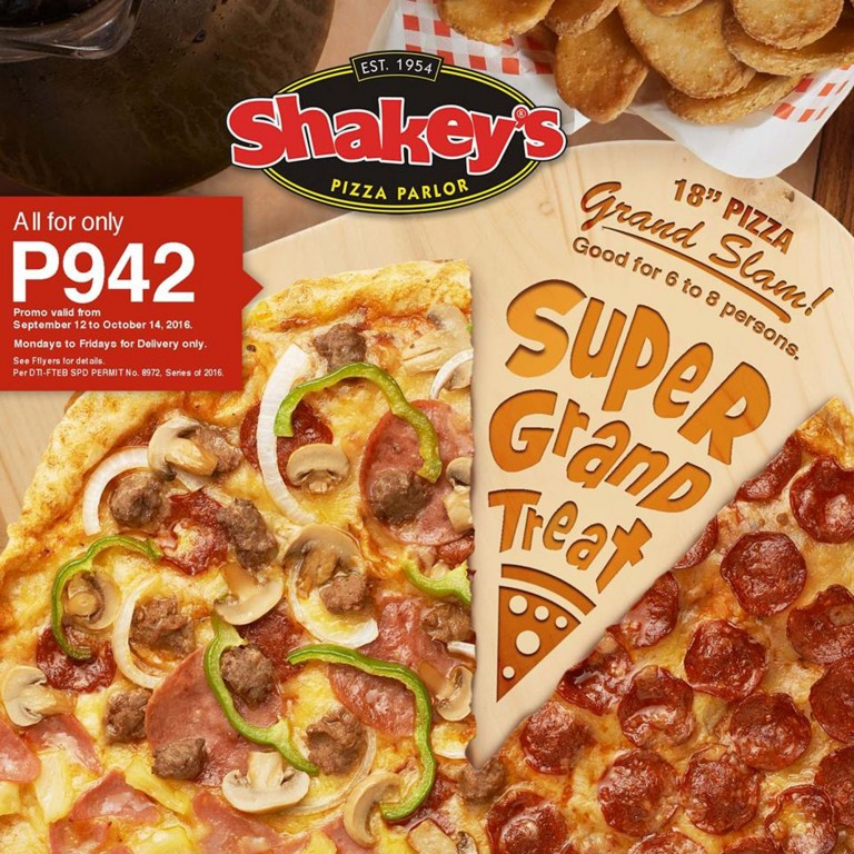Photo from Shakey's Philippines Facebook page