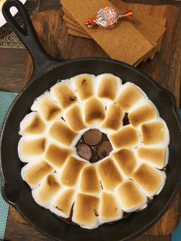Flat top s'mores