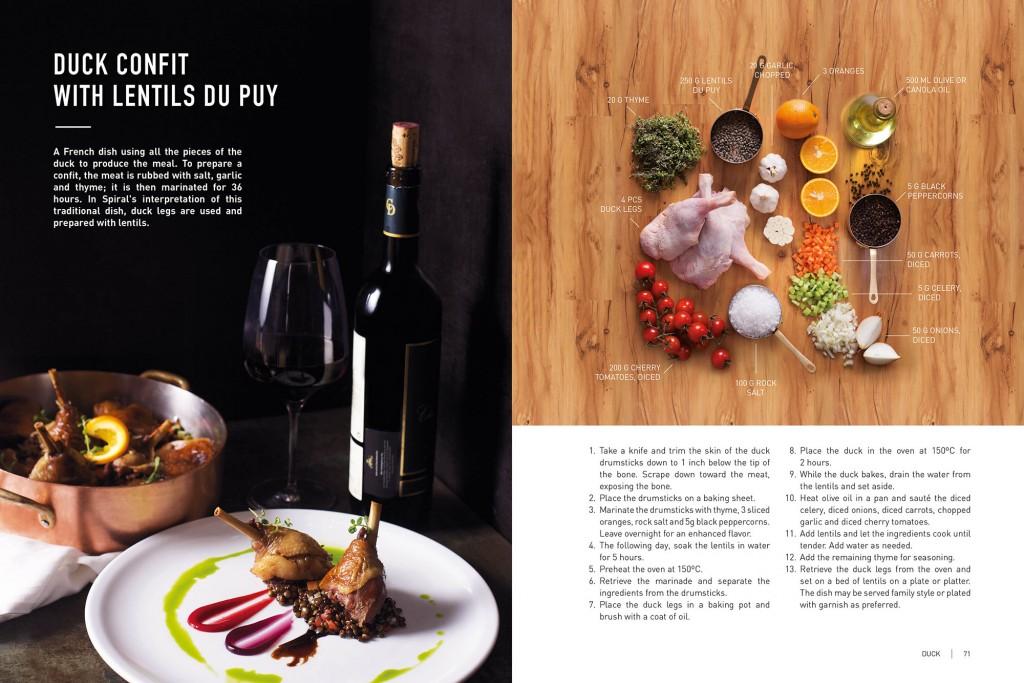 A sample recipe you can find in the cook book