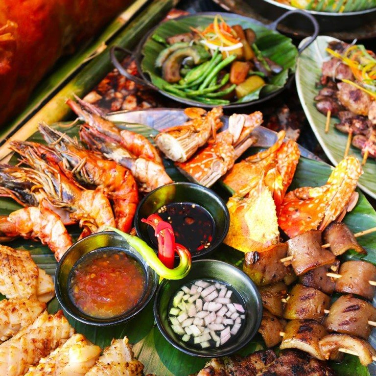 A platter of Visayan sinugba (grilled) specialties. Screen grabbed from Sofitel Philippine Plaza Manila's Facebook page