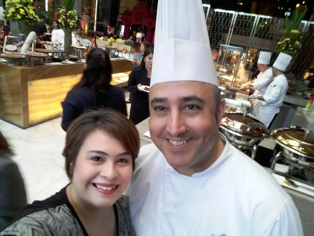 Writer Monica De Leon with Chef Coque